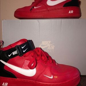 Air Force 1 Mid Utility University Red